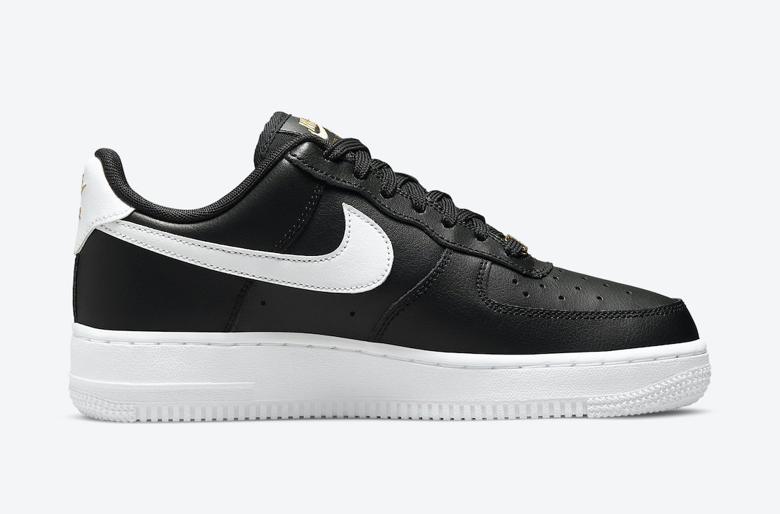 Nike Air Force 1 Low Black Gold White CZ0270-001 Release Date