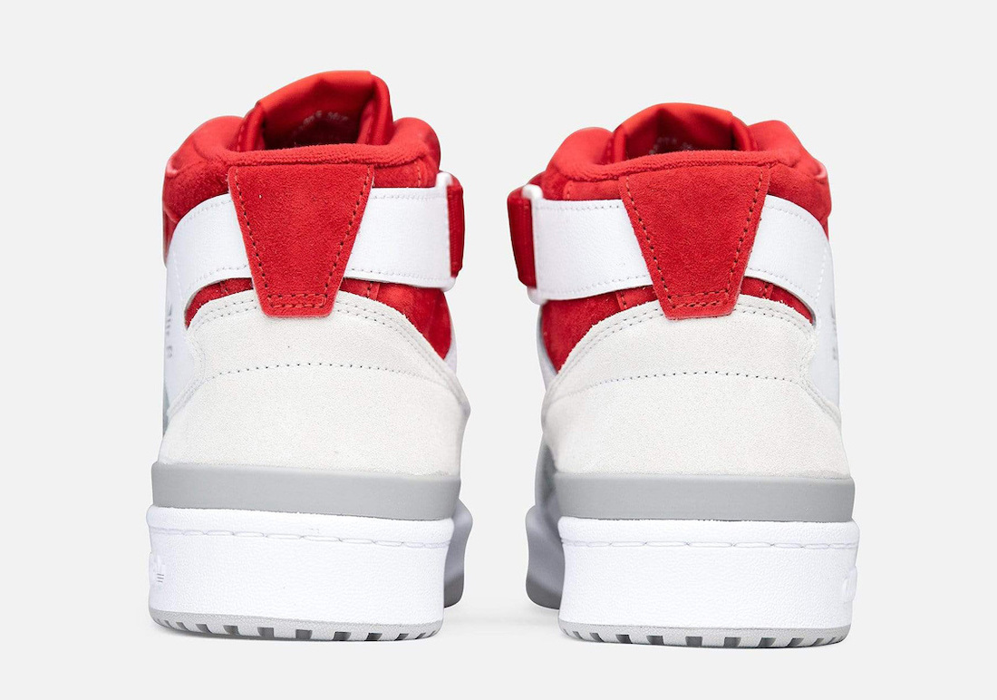 adidas Forum Mid White Grey Red FY6819 Release Date
