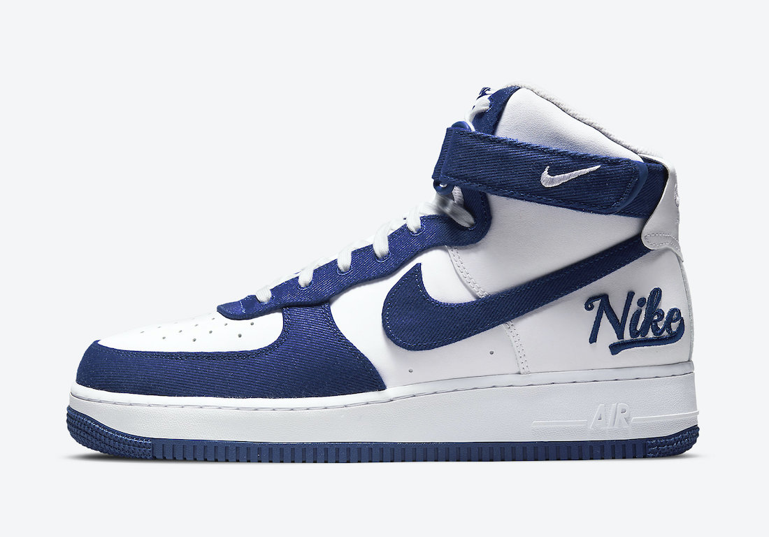 Nike Air Force 1 High EMB Dodgers Rush Blue DC8168-100 Release Date