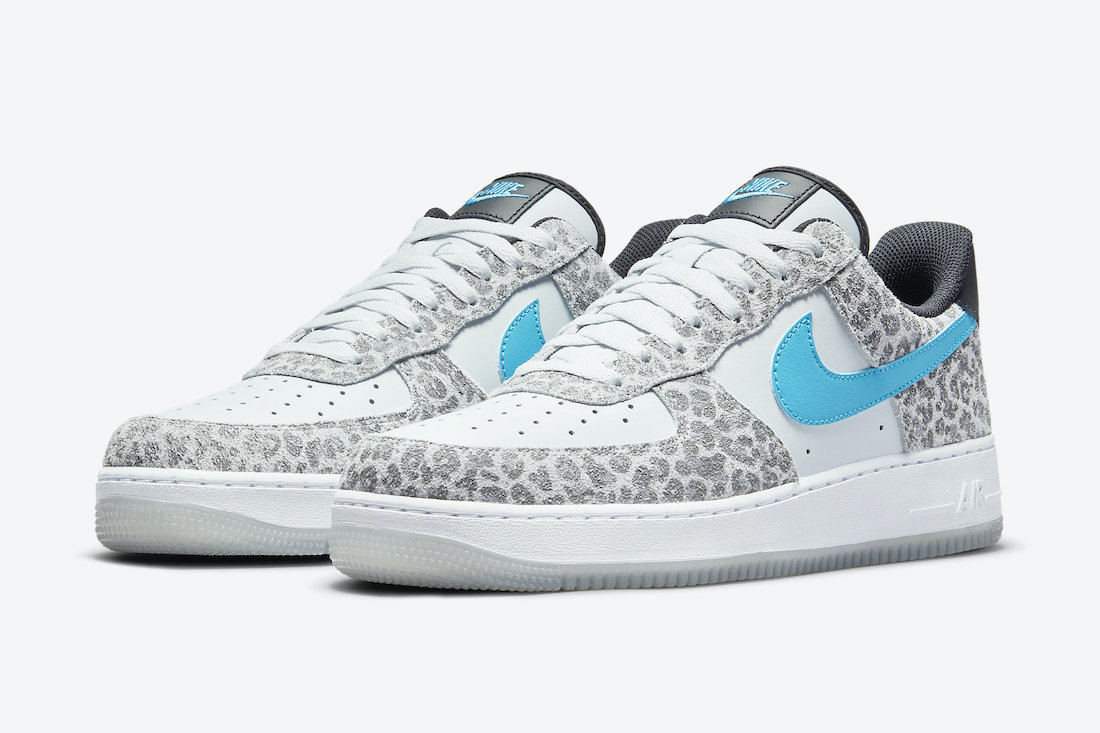 Nike Air Force 1 Low Covered in Suede Leopard Print