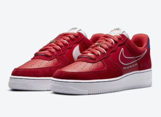 Nike Air Force 1 Low University Red White Deep Royal Blue DB3597-600 Release Date