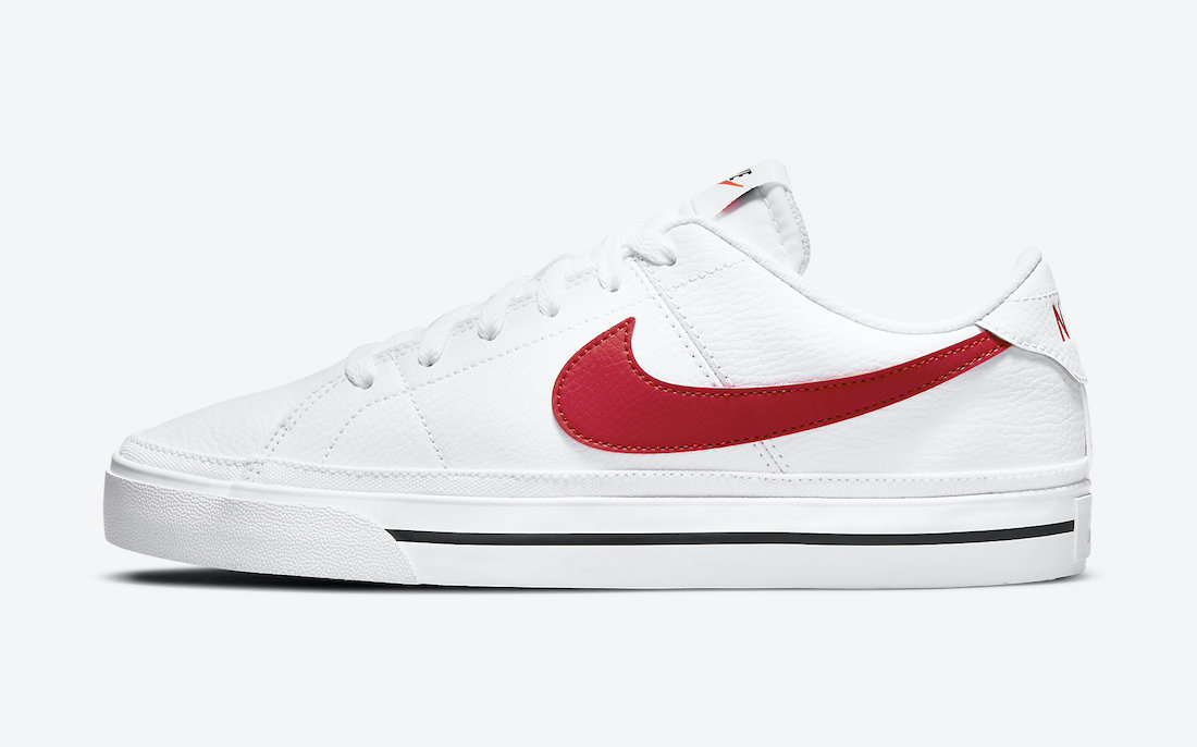 Nike Court Legacy White University Red CU4150-105 Release Date