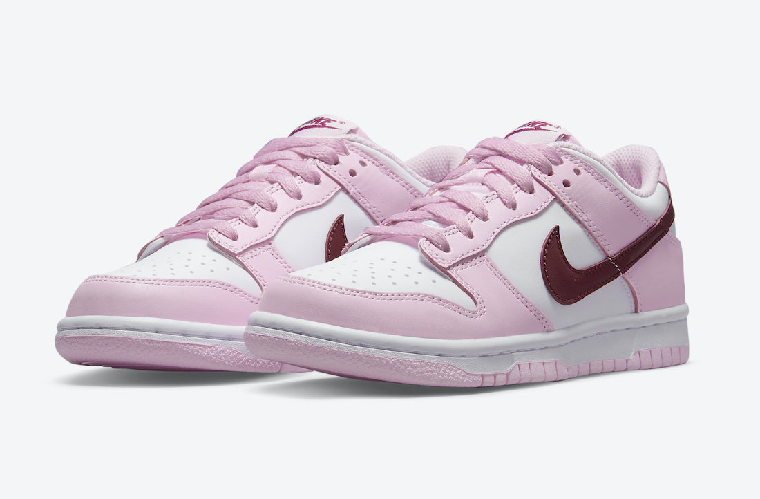 Nike Dunk Low GS White Pink Red CW1590-601 Release Date