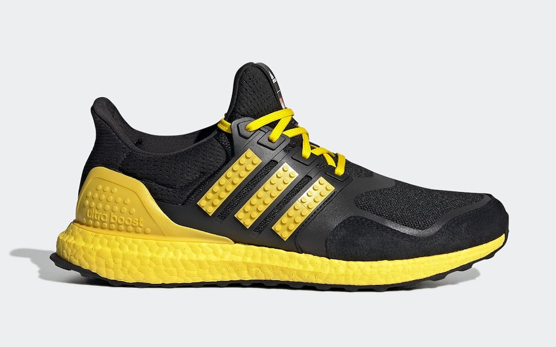 LEGO adidas Ultra Boost DNA Black Yellow H67953 Release Date
