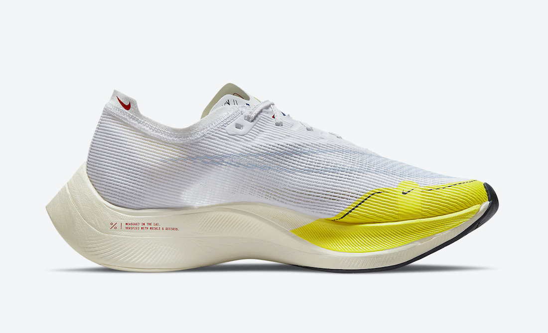 Nike ZoomX VaporFly NEXT 2 White Yellow DM9056-100 Release Date