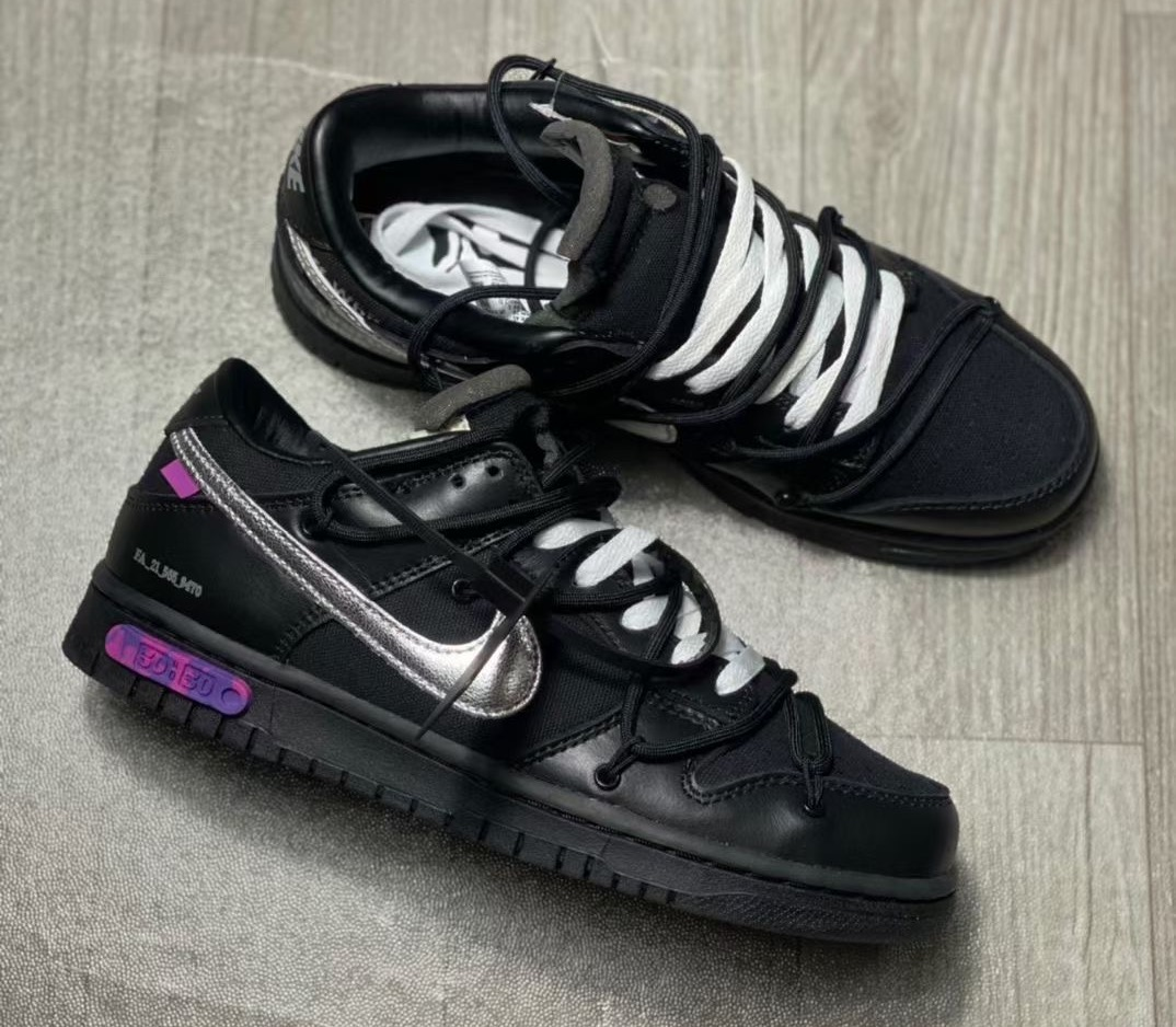Off-White Nike Dunk Low 50 of 50 Black Release Date