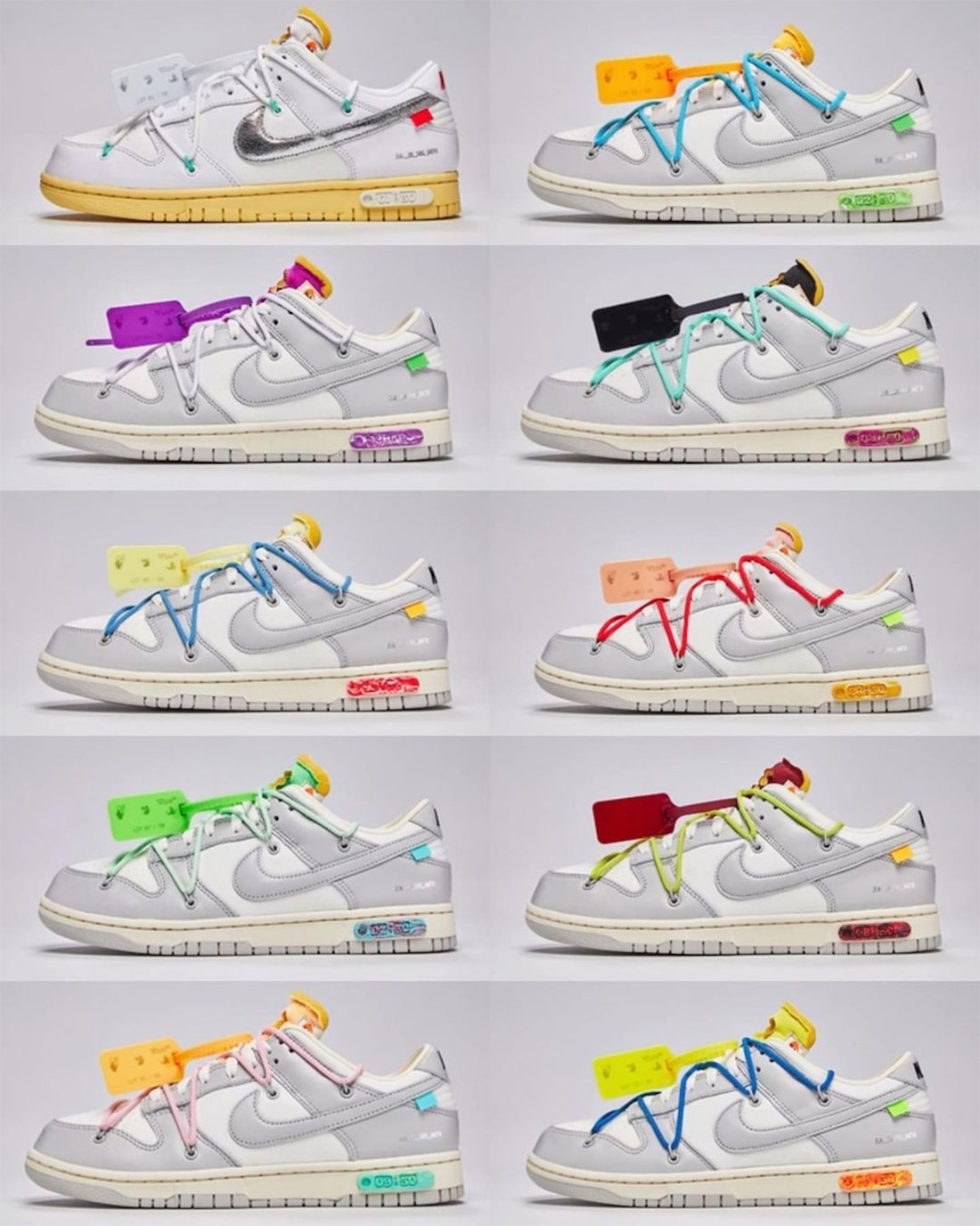 Off-White The 50 Nike Dunk Low Release Date