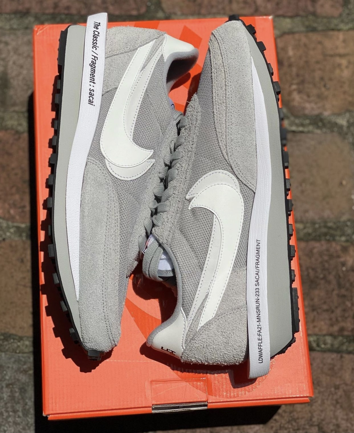 Fragment Sacai Nike LDWaffle Wolf Grey DH2684-001 Release Date Pricing