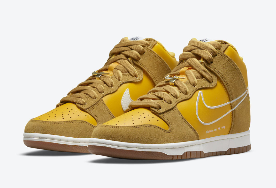 Nike Dunk High First Use University Gold DH6758 700 Release Date 4 1068x727