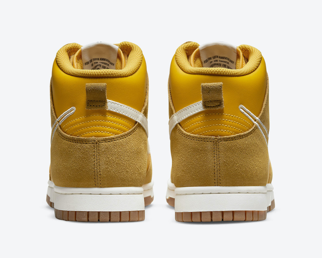 Nike Dunk High First Use University Gold DH6758-700 Release Date