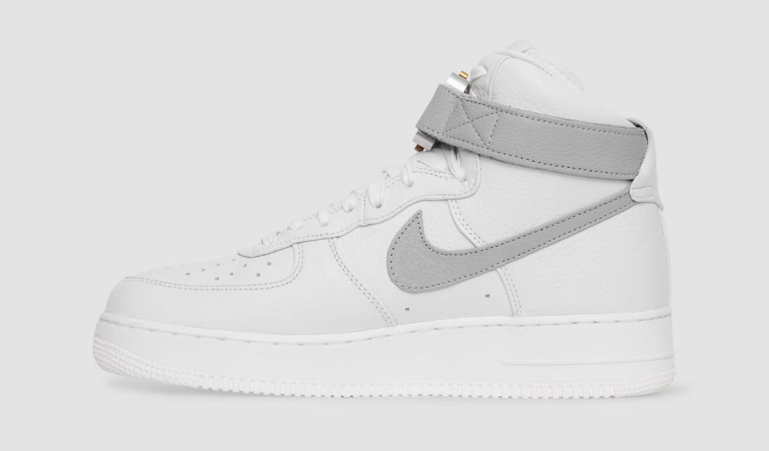 Alyx x Nike Air Force 1 High White Wolf Grey CQ4018-104 Release Date