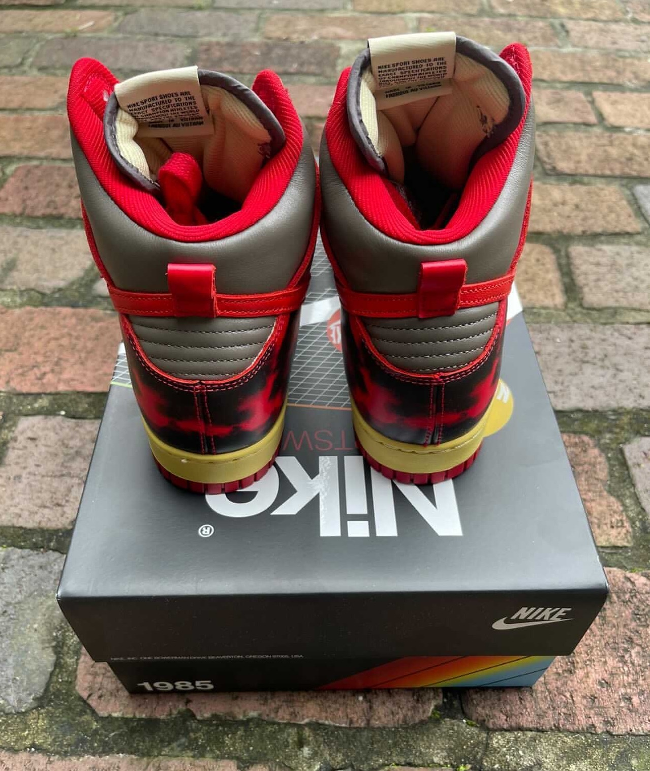 Nike Dunk High 1985 Red Acid Wash DD9404-600 Release Date Price