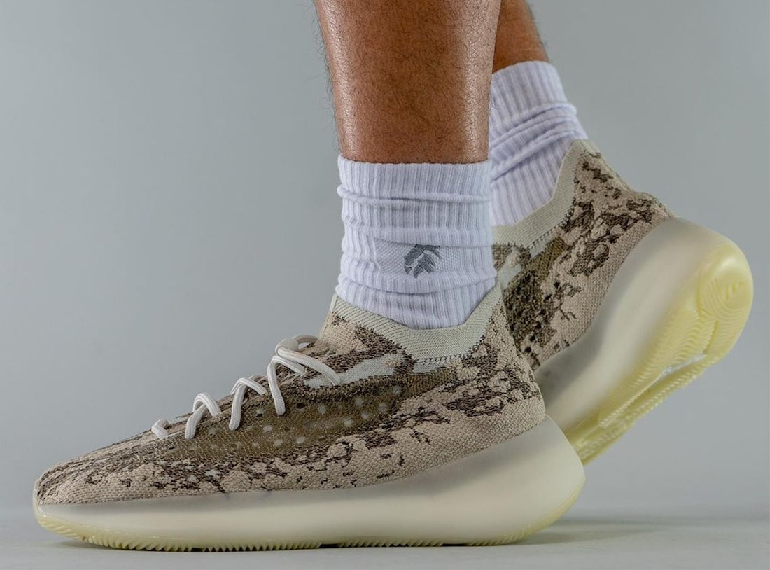 adidas Yeezy Boost 380 Pyrite GZ0473 Release Date On-Feet