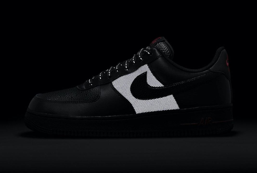 Nike Air Force 1 Low Black Red DO6389-001 Release Date