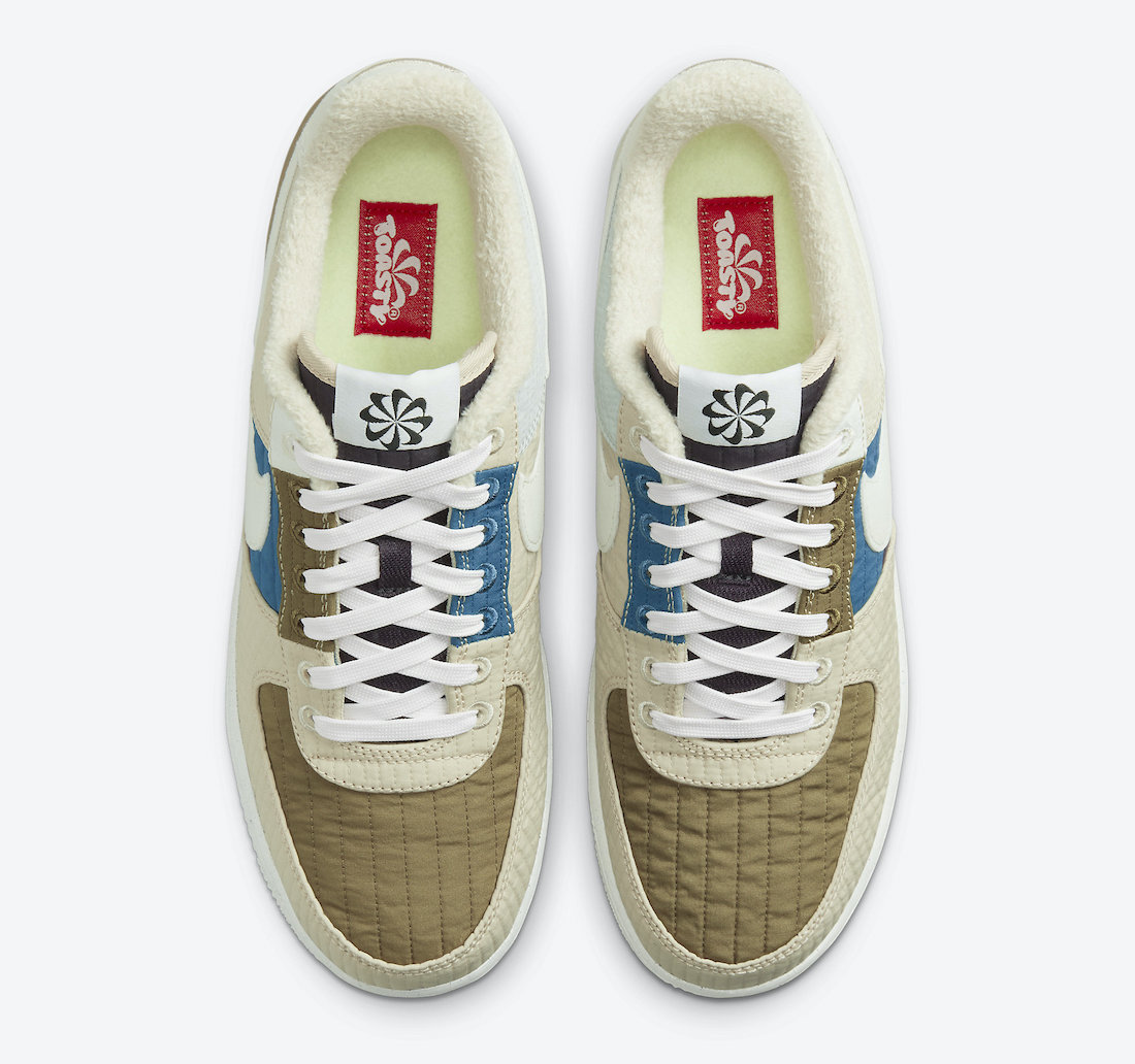 Nike Air Force 1 Low Toasty Brown Kelp Sail Rattan Cave Purple DC8744-301 Release Date