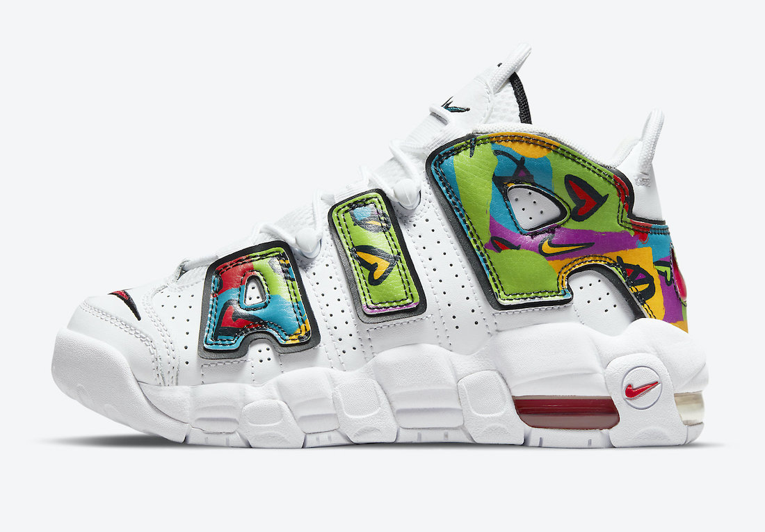 Nike Air More Uptempo Peace Love Swoosh DM8155-100 Release Date