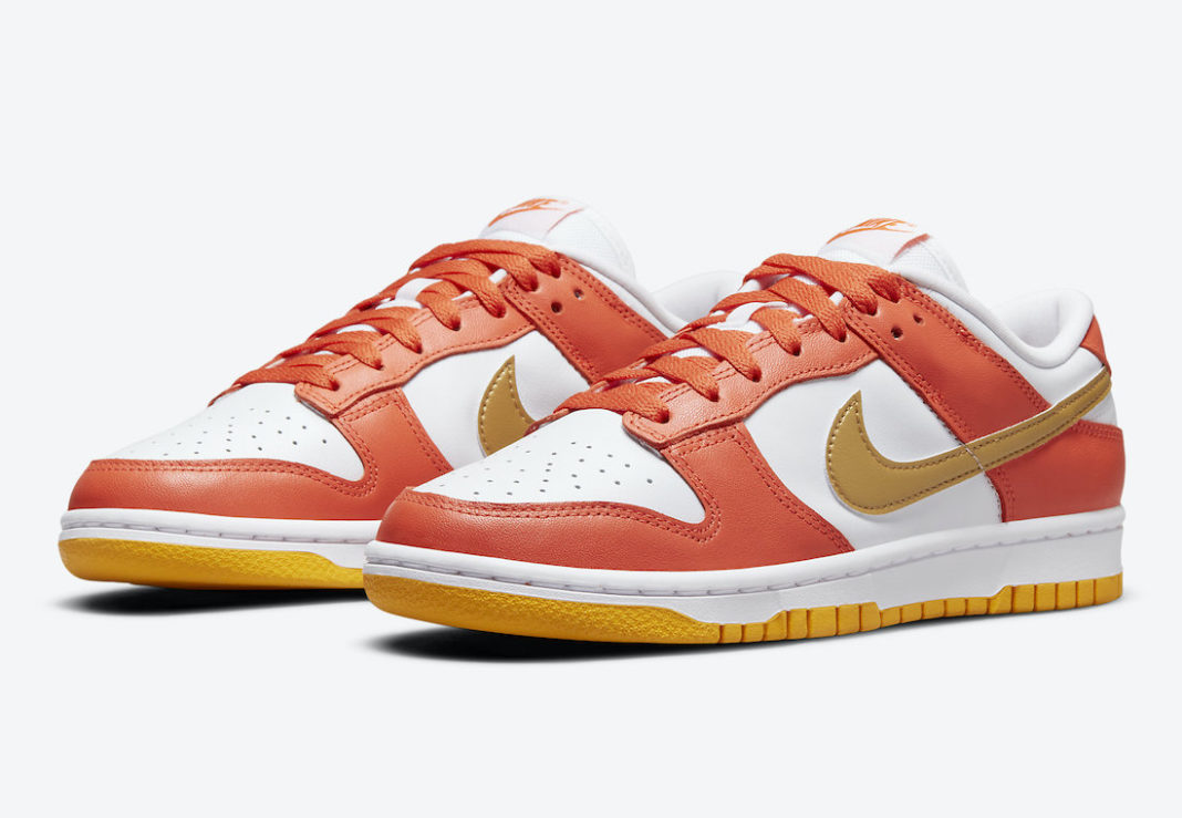 Nike Dunk Low Orange Gold Yellow DQ4690-800 Release Date
