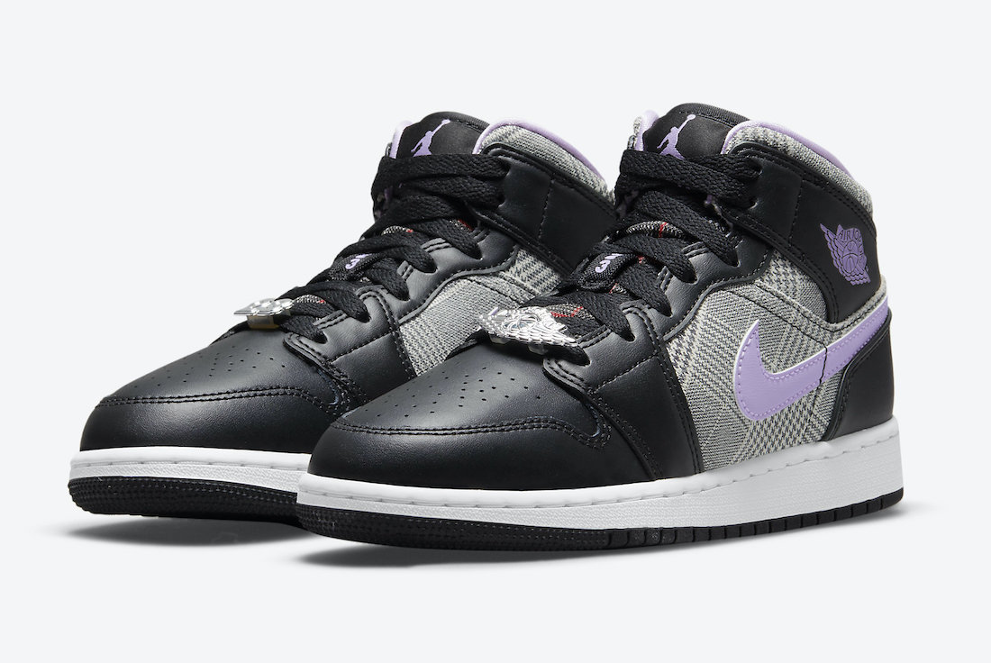Air Jordan 1 Mid SE GS Houndstooth DC7226-015 Release Date