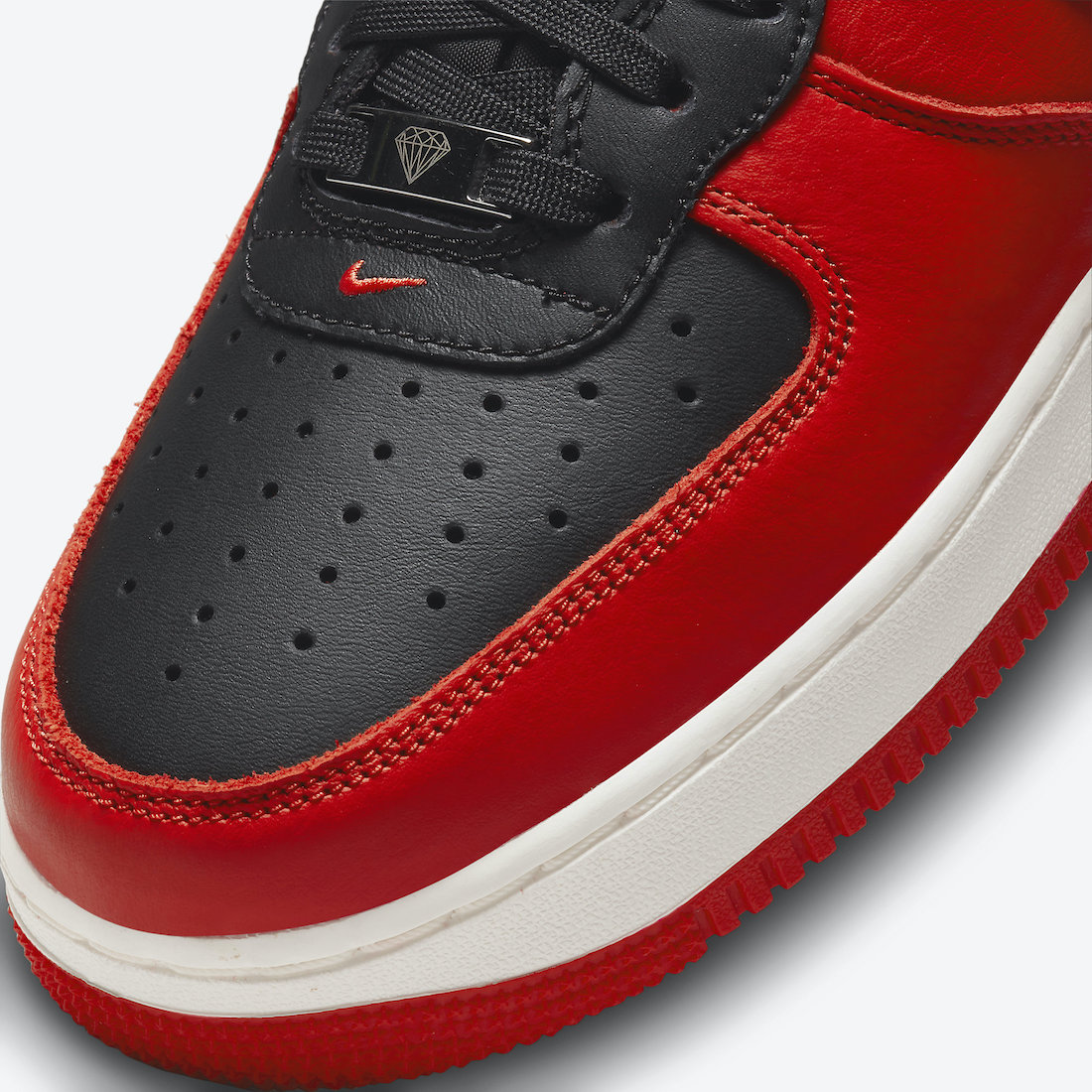 NBA Nike Air Force 1 High Black Chile Red White Sail DC8870-001 Release Date