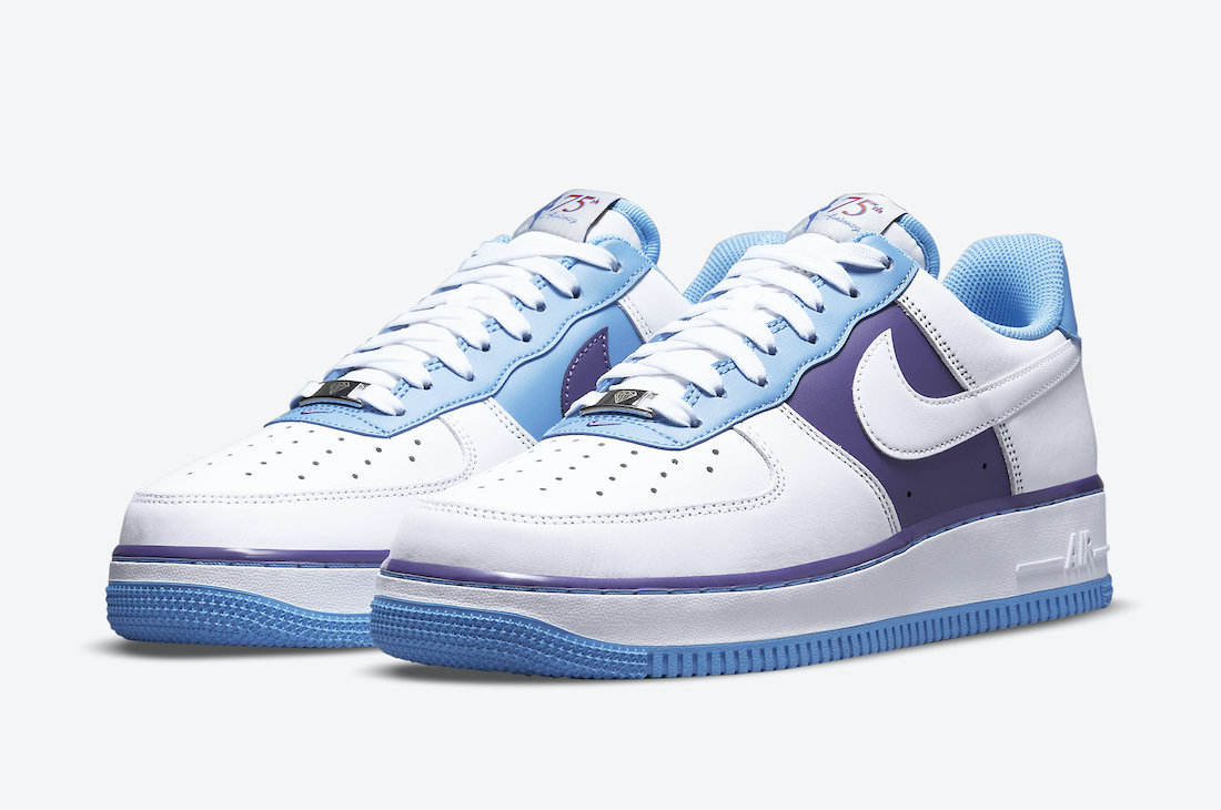 NBA Nike Air Force 1 Low Lakers 75th Anniversary DC8874-101 Release Date